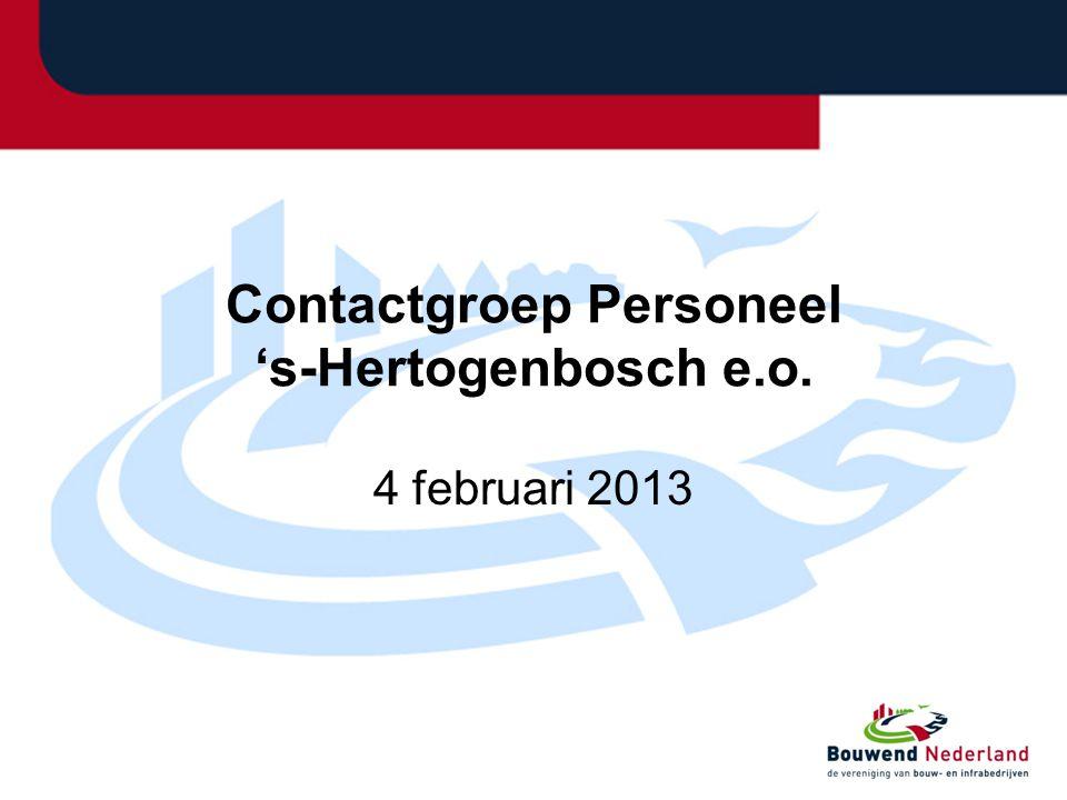 Contactgroep Personeel 's-Hertogenbosch e.o. 4 februari 2013