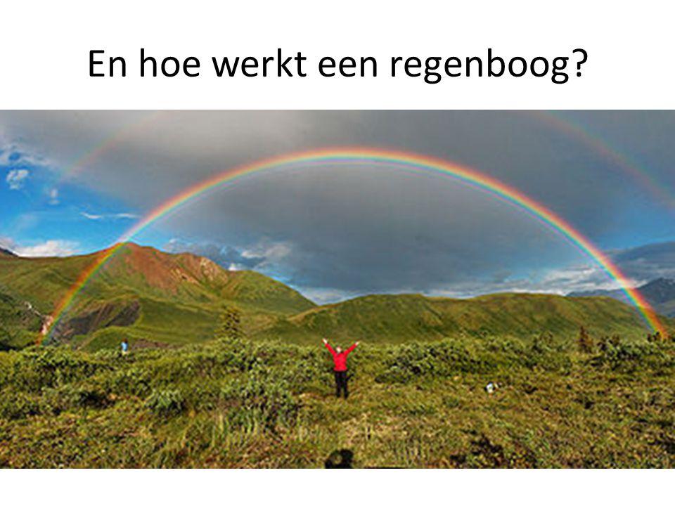 En hoe werkt een regenboog?