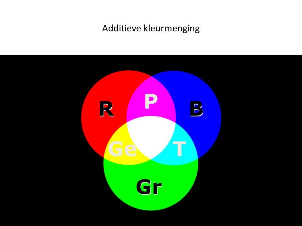 Additieve kleurmenging B B R R Gr P TGe