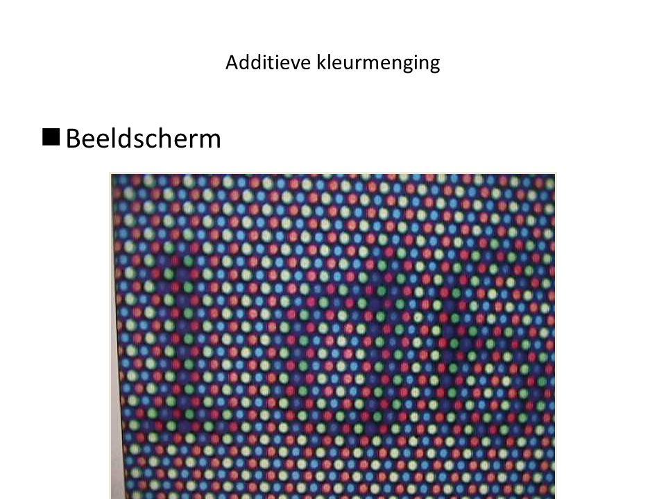 Additieve kleurmenging  Beeldscherm