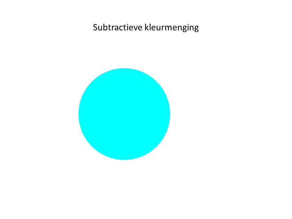 Subtractieve kleurmenging
