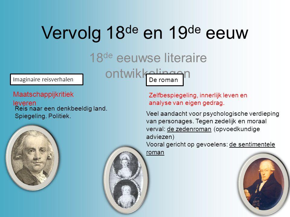 De negentiende eeuw Literaire ontwikkelingen 1880 Voor 1880: Literatuur in Nederland heeft een belerende functie.