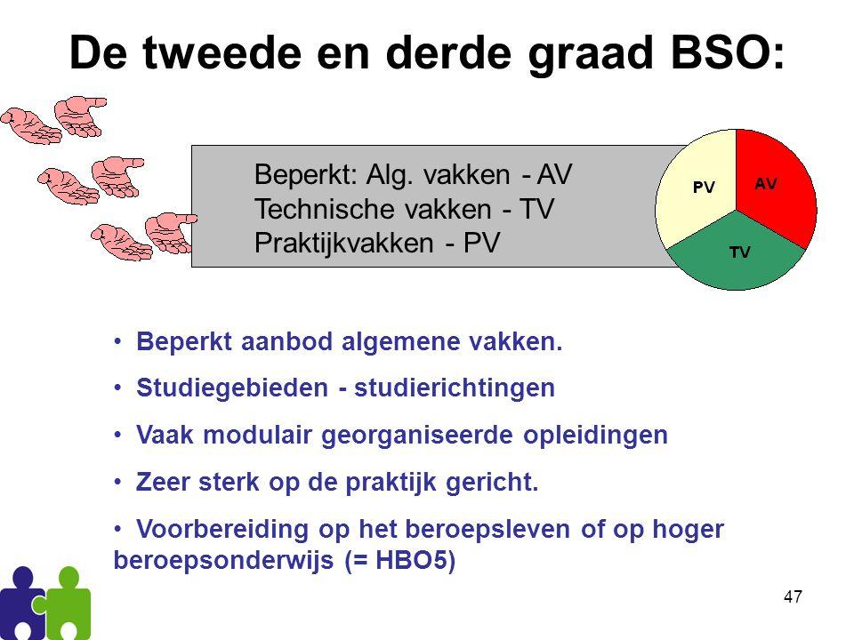 47 De tweede en derde graad BSO: Beperkt: Alg.