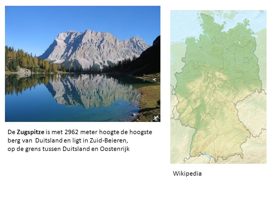 De Zugspitze is met 2962 meter hoogte de hoogste berg van Duitsland en ligt in Zuid-Beieren, op de grens tussen Duitsland en Oostenrijk Wikipedia