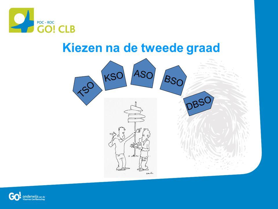 Kiezen na de tweede graad KSO DBSO TSO ASO BSO
