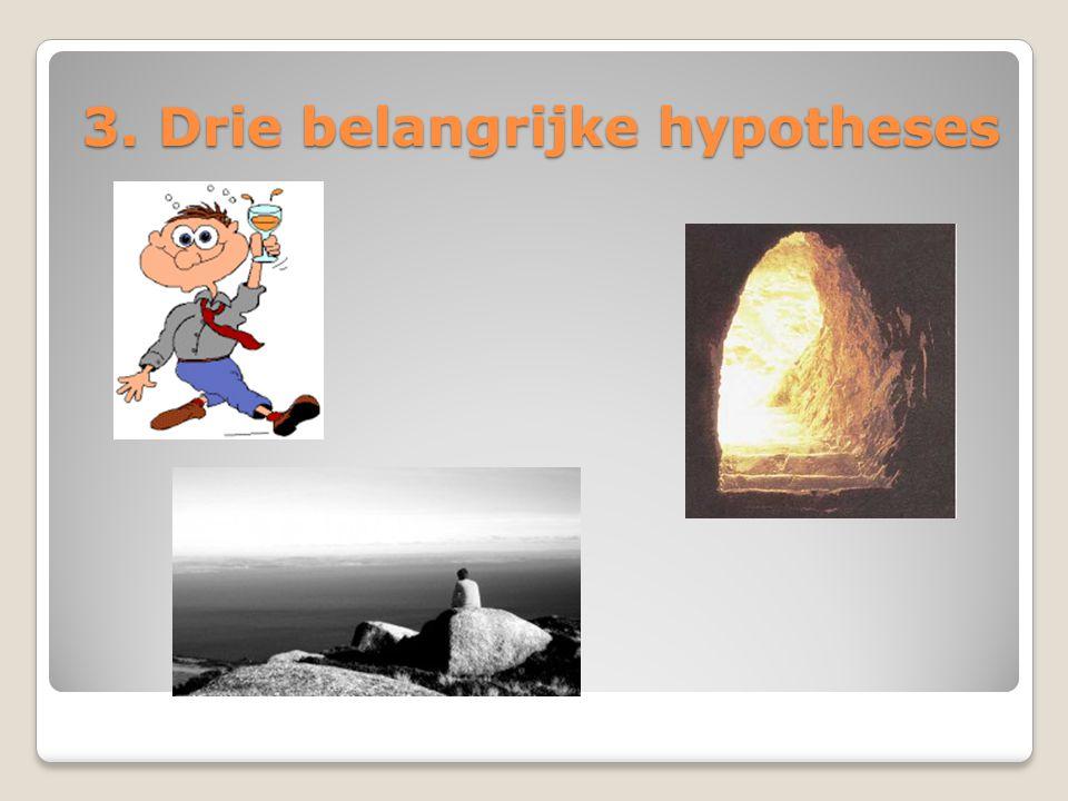 3. Drie belangrijke hypotheses