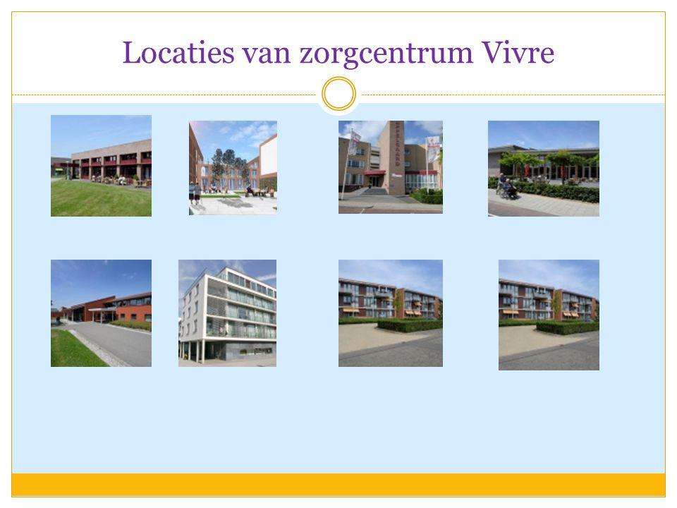 Locaties van zorgcentrum Vivre