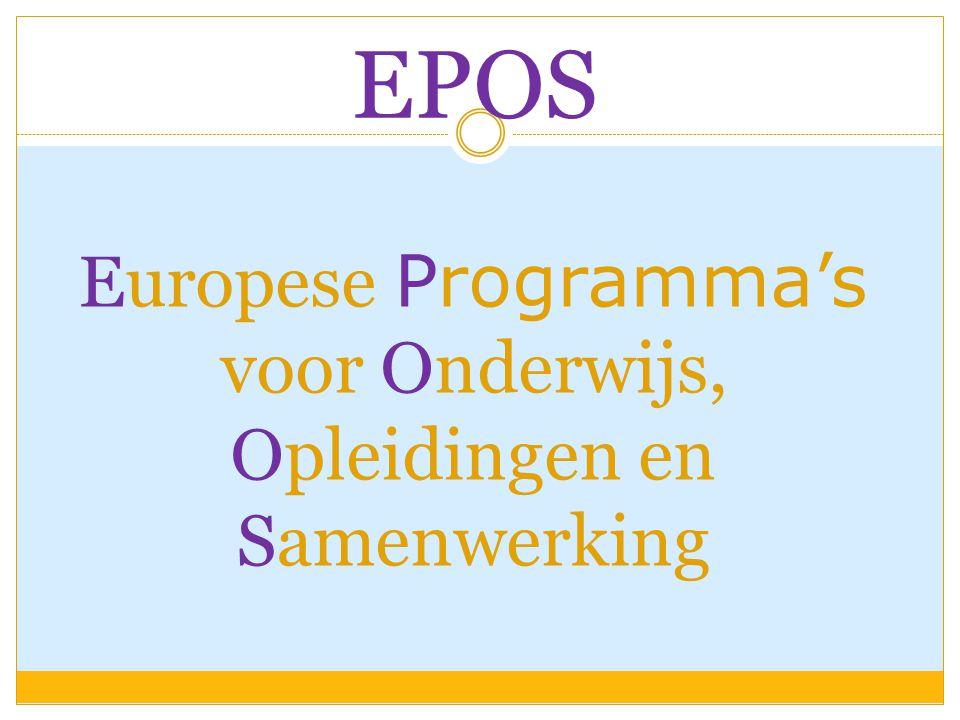 Europese Programma's voor Onderwijs, Opleidingen en Samenwerking EPOS