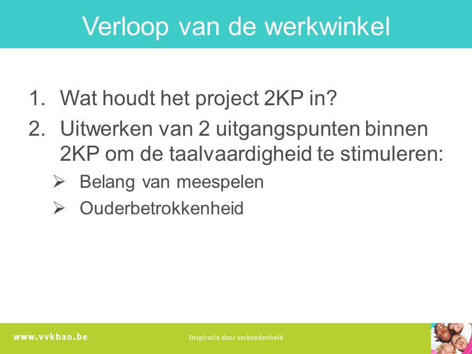 1.Wat houdt het project 2KP in. Waarvoor staat 2KP.