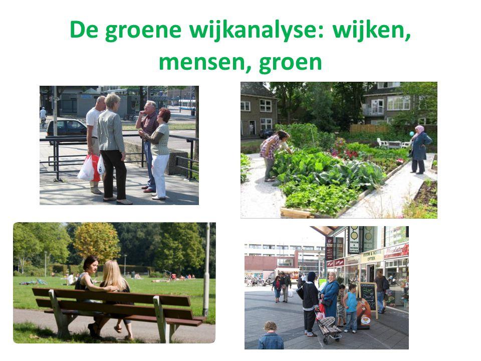 De groene wijkanalyse: wijken, mensen, groen