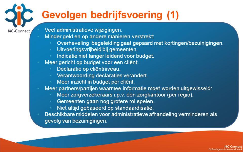 •Veel administratieve wijzigingen.