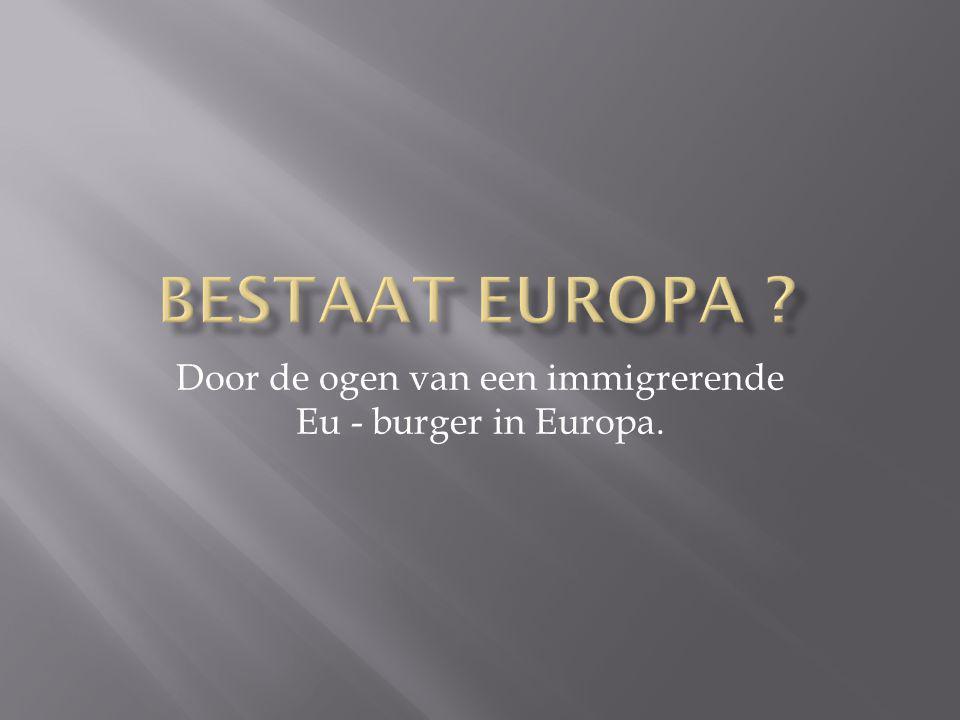 Door de ogen van een immigrerende Eu - burger in Europa.