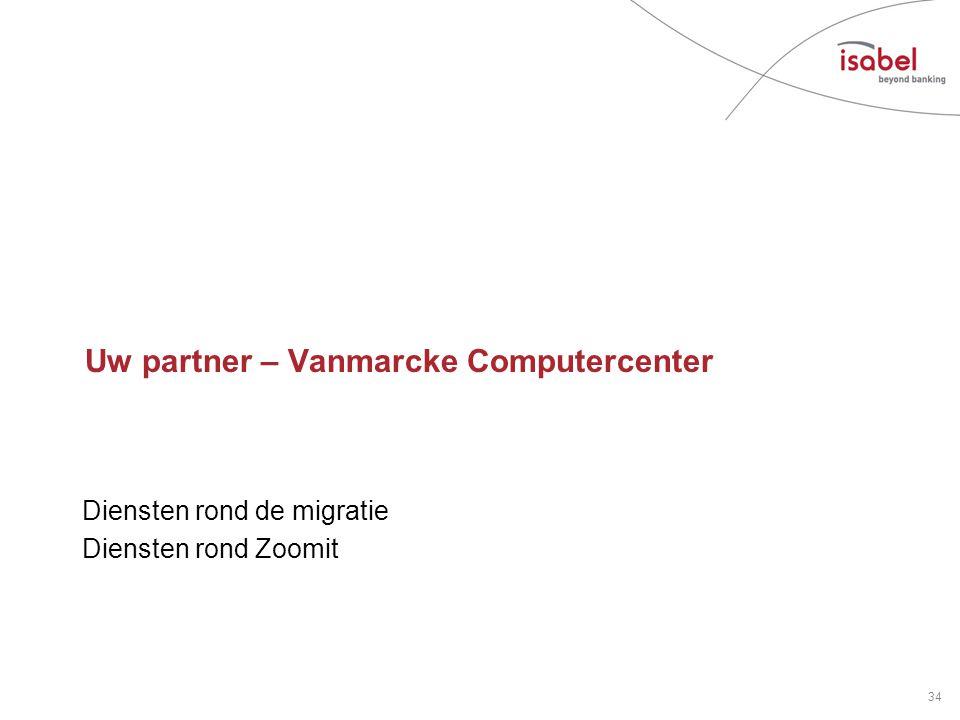 Uw partner – Vanmarcke Computercenter Diensten rond de migratie Diensten rond Zoomit 34