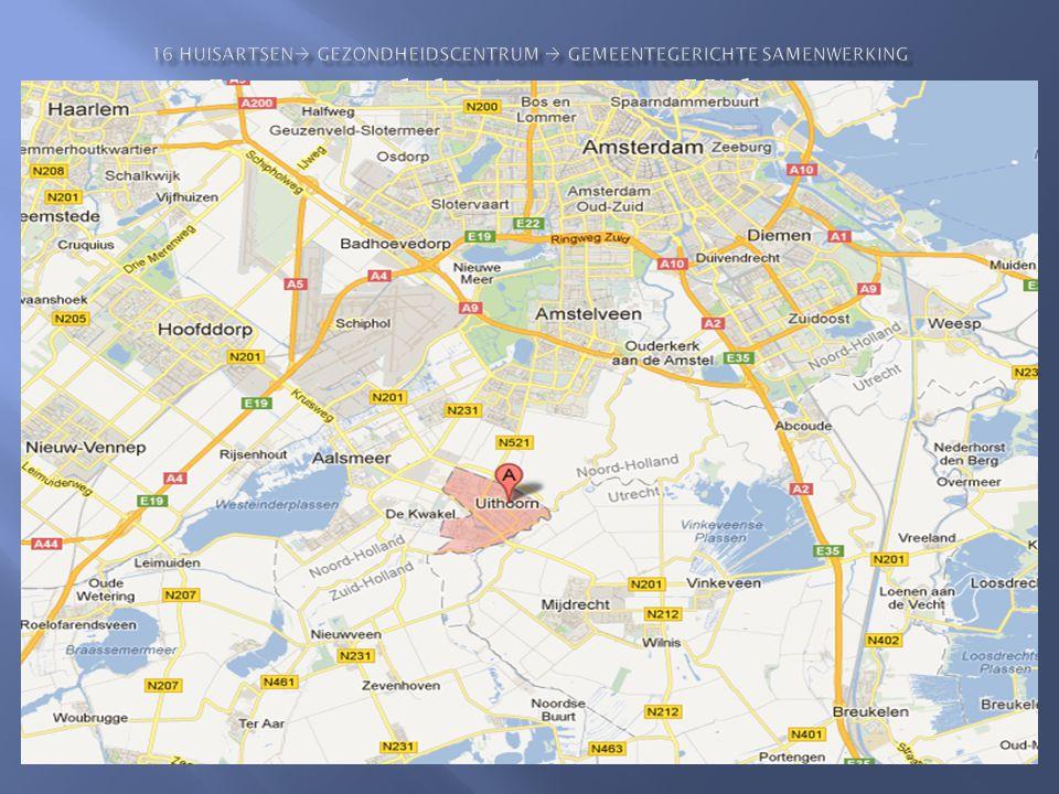 Kaart met lokatie etc. van Uithoorn
