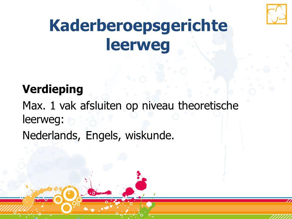 Kaderberoepsgerichte leerweg Verdieping Max.