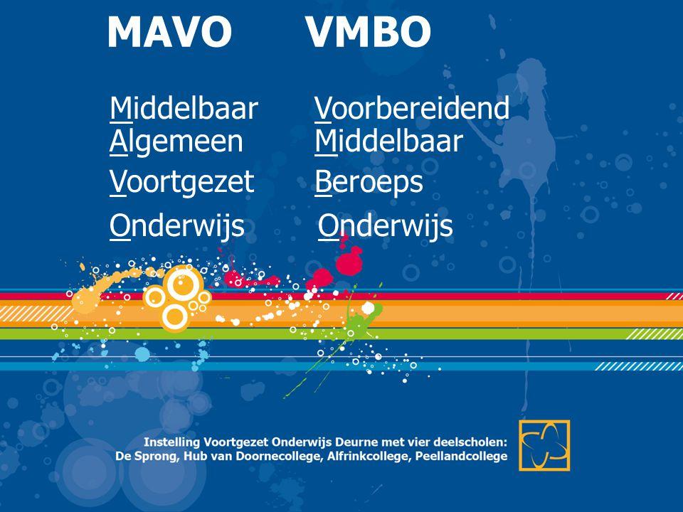 Middelbaar Voorbereidend AlgemeenMiddelbaar VoortgezetBeroeps Onderwijs MAVO VMBO