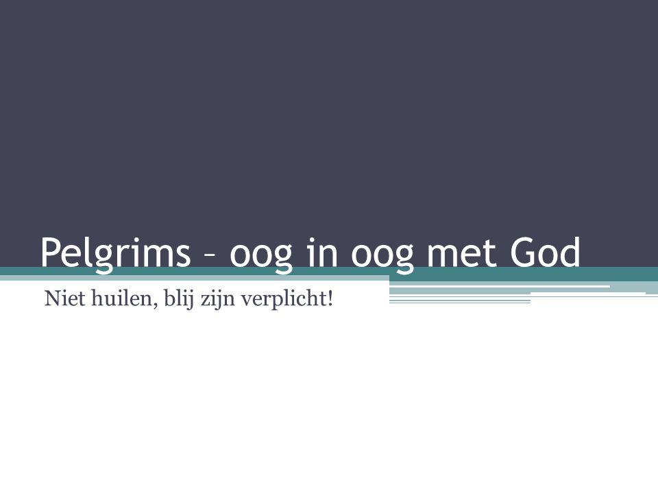Pelgrims – oog in oog met God Niet huilen, blij zijn verplicht!