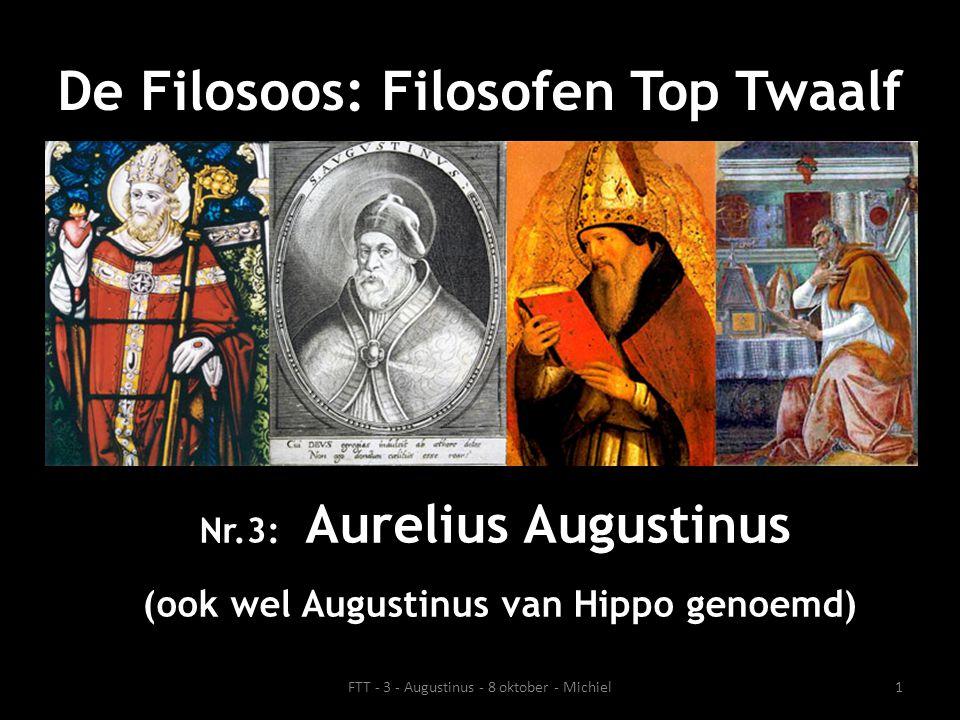 Leven Augustinus: kort overzicht • 13 november 354 - 28 augustus 430 • Geboren in Thagaste (het tegenwoordige Souk Ahras in Noord Algerije, destijds was Thagaste onderdeel van de West-Romeinse provincie Africa) en overleden in Hippo (het tegenwoordige Annaba in Noord Algerije).