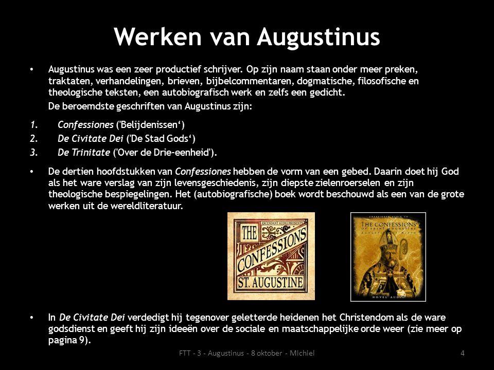 Diverse invloeden Augustinus is in zijn leven door verschillende religieuze en filosofische stromingen beïnvloed.