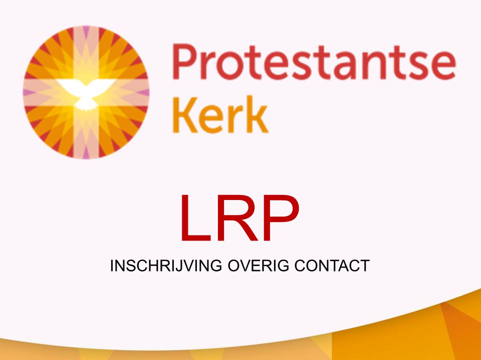 LRP INSCHRIJVING OVERIG CONTACT