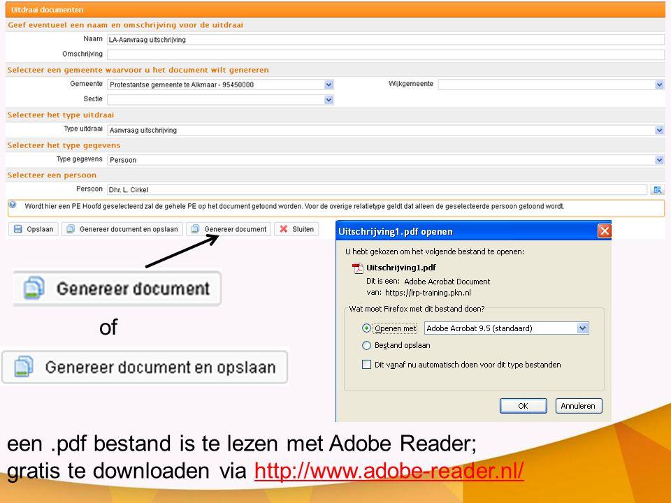 een.pdf bestand is te lezen met Adobe Reader; gratis te downloaden via http://www.adobe-reader.nl/http://www.adobe-reader.nl/ of