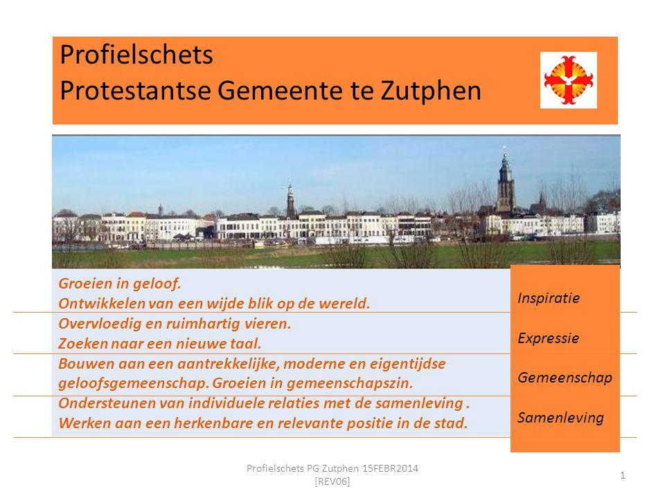Profielschets Protestantse Gemeente te Zutphen 1 Profielschets PG Zutphen 15FEBR2014 [REV06] Groeien in geloof.
