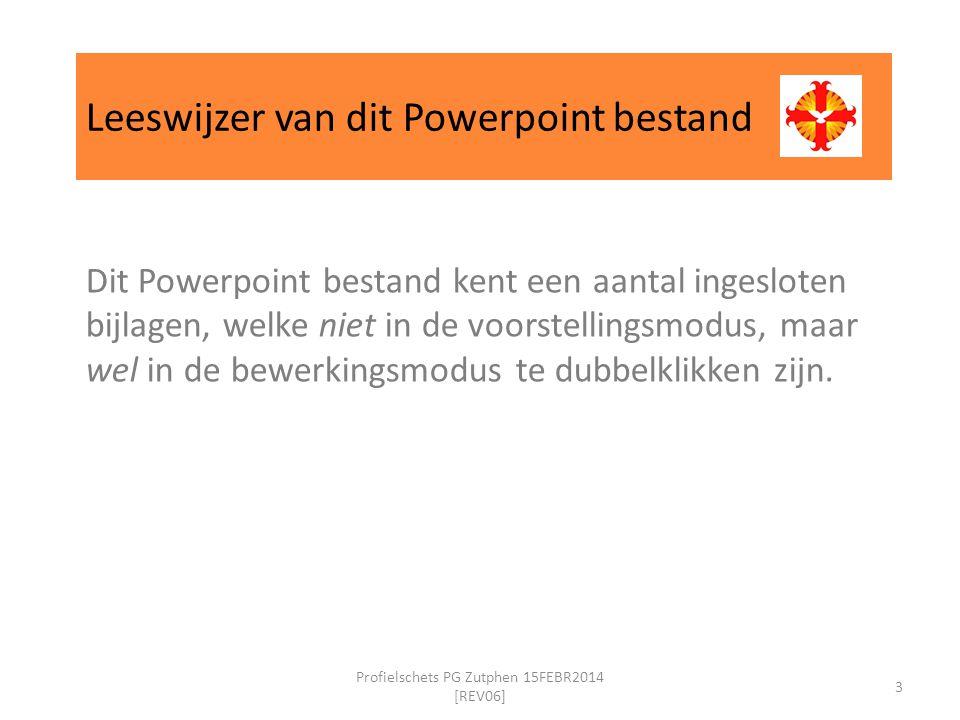 Leeswijzer van dit Powerpoint bestand Dit Powerpoint bestand kent een aantal ingesloten bijlagen, welke niet in de voorstellingsmodus, maar wel in de bewerkingsmodus te dubbelklikken zijn.