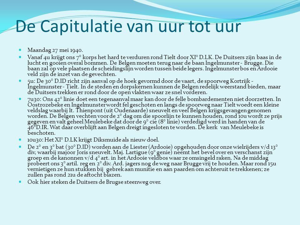 De Capitulatie van uur tot uur  Maandag 27 mei 1940.