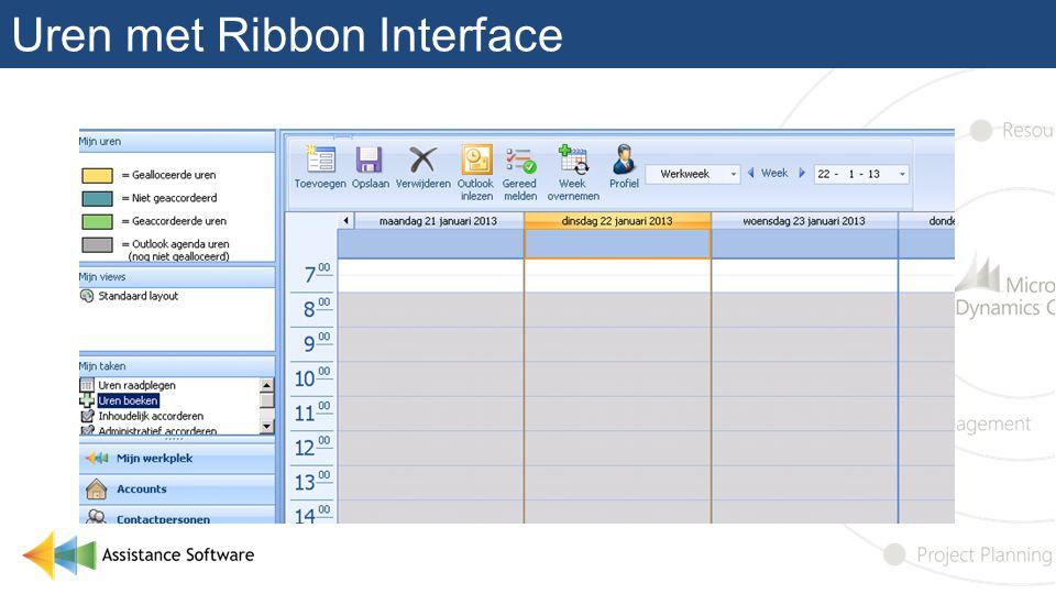 Uren met Ribbon Interface