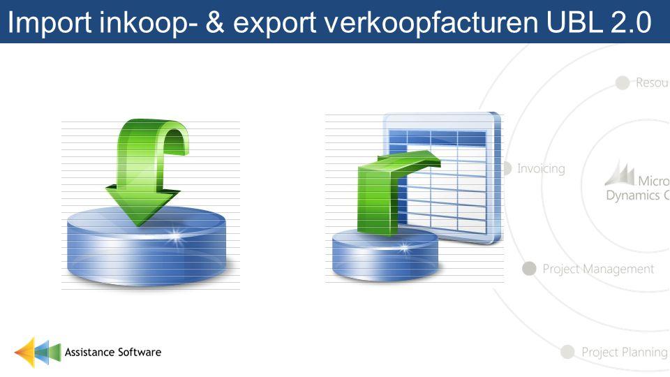 Import inkoop- & export verkoopfacturen UBL 2.0