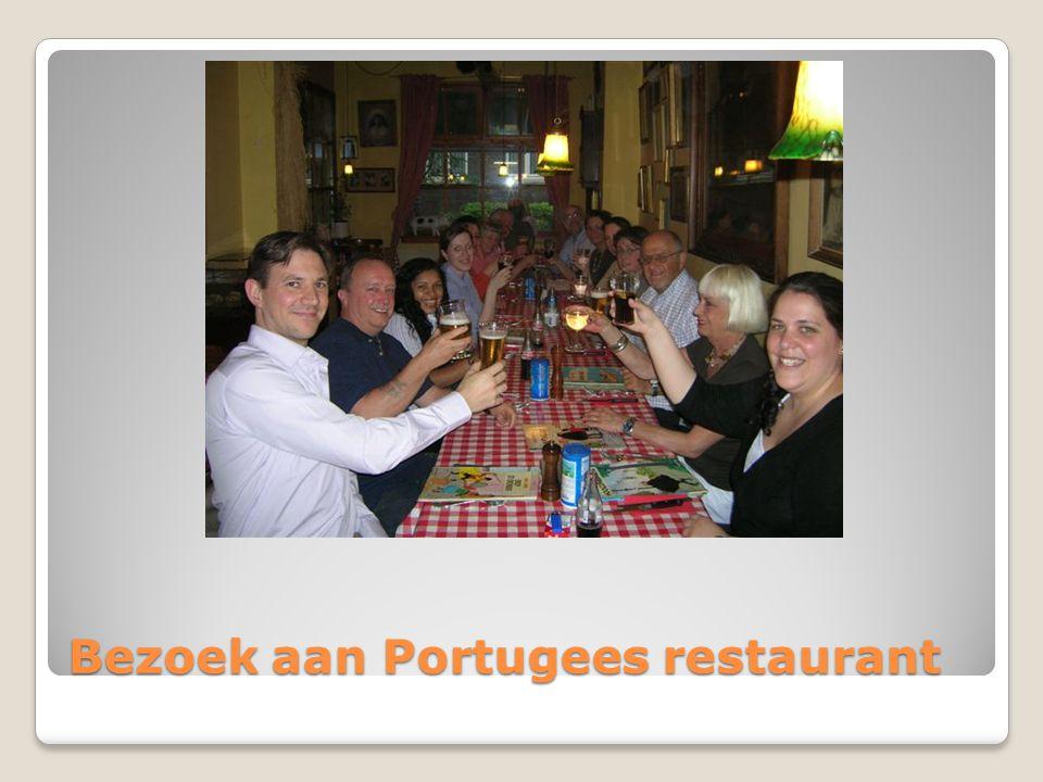 Bezoek aan Portugees restaurant