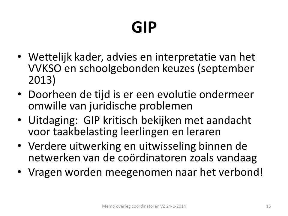 GIP • Wettelijk kader, advies en interpretatie van het VVKSO en schoolgebonden keuzes (september 2013) • Doorheen de tijd is er een evolutie ondermeer