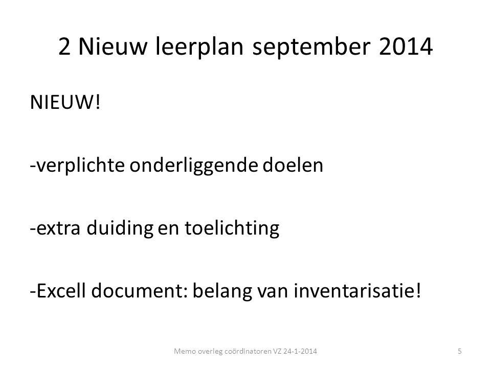 2 Nieuw leerplan september 2014 NIEUW! -verplichte onderliggende doelen -extra duiding en toelichting -Excell document: belang van inventarisatie! 5Me