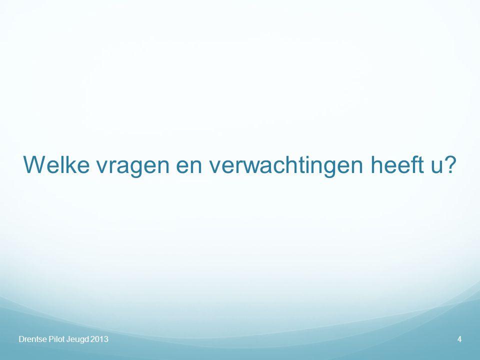Zorginfrastructuur In de zorg voor jeugd Drentse Pilot Jeugd25