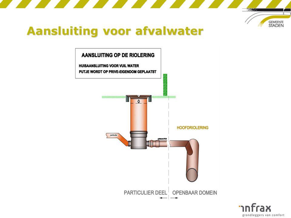 Aansluiting voor afvalwater
