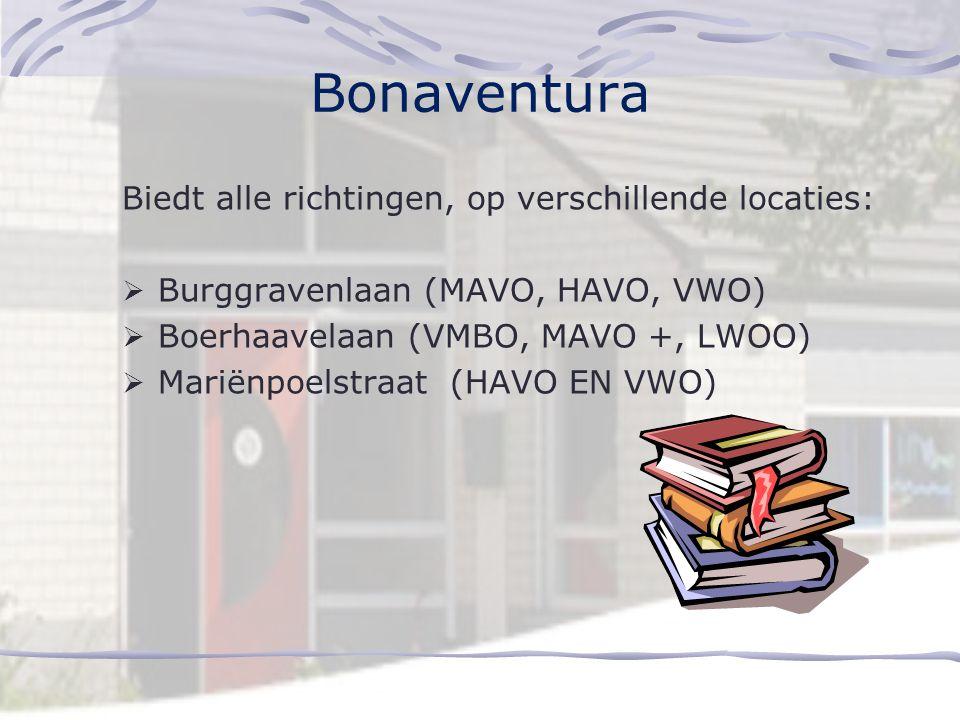 Visser 't Hooft Lyceum Biedt alle richtingen, op verschillende locaties:  Leiden (2-talig onderwijs, HAVO, VWO)  Leidsche Hout (Brugklas MAVO/HAVO,