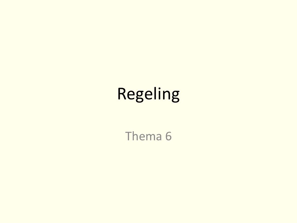 Regeling Thema 6