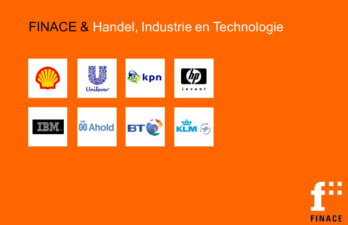 FINACE & Handel, Industrie en Technologie