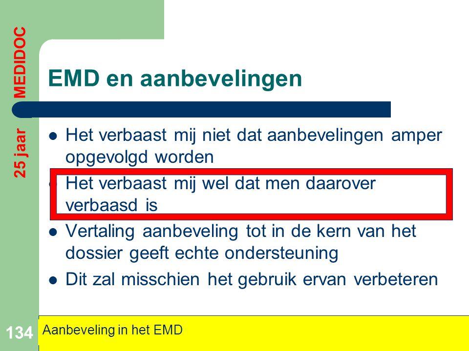 EMD en aanbevelingen  Het verbaast mij niet dat aanbevelingen amper opgevolgd worden  Het verbaast mij wel dat men daarover verbaasd is  Vertaling