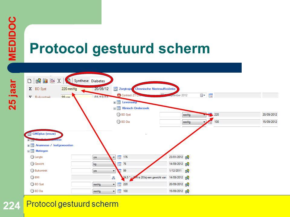 224 25 jaar MEDIDOC Protocol gestuurd scherm