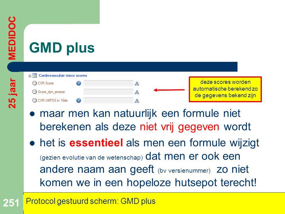 GMD plus  maar men kan natuurlijk een formule niet berekenen als deze niet vrij gegeven wordt  het is essentieel als men een formule wijzigt (gezien