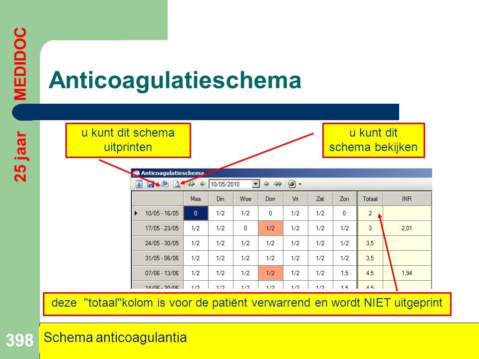 Anticoagulatieschema 398 u kunt dit schema bekijken u kunt dit schema uitprinten deze