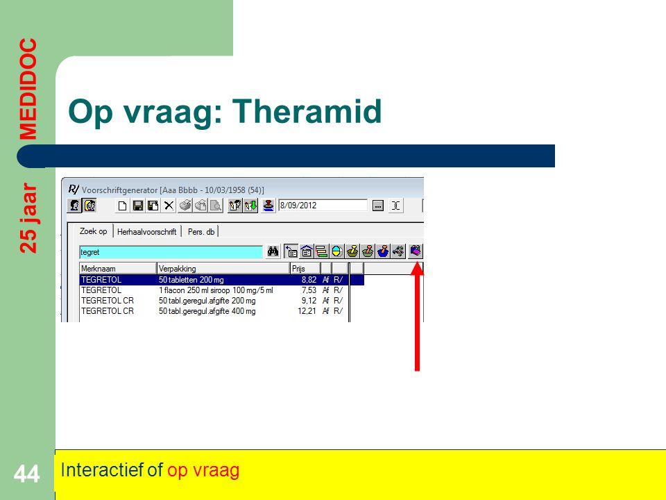 Op vraag: Theramid 44 25 jaar MEDIDOC Interactief of op vraag