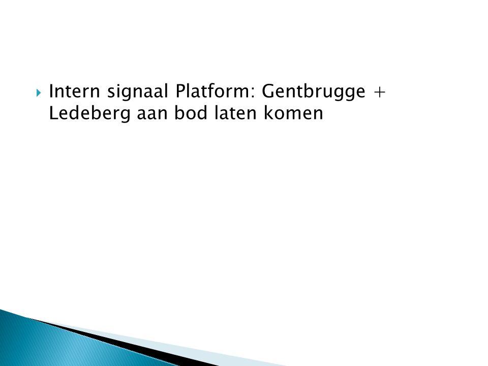  Intern signaal Platform: Gentbrugge + Ledeberg aan bod laten komen
