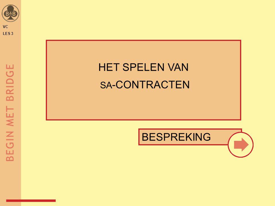 BESPREKING HET SPELEN VAN SA -CONTRACTEN VC LES 3