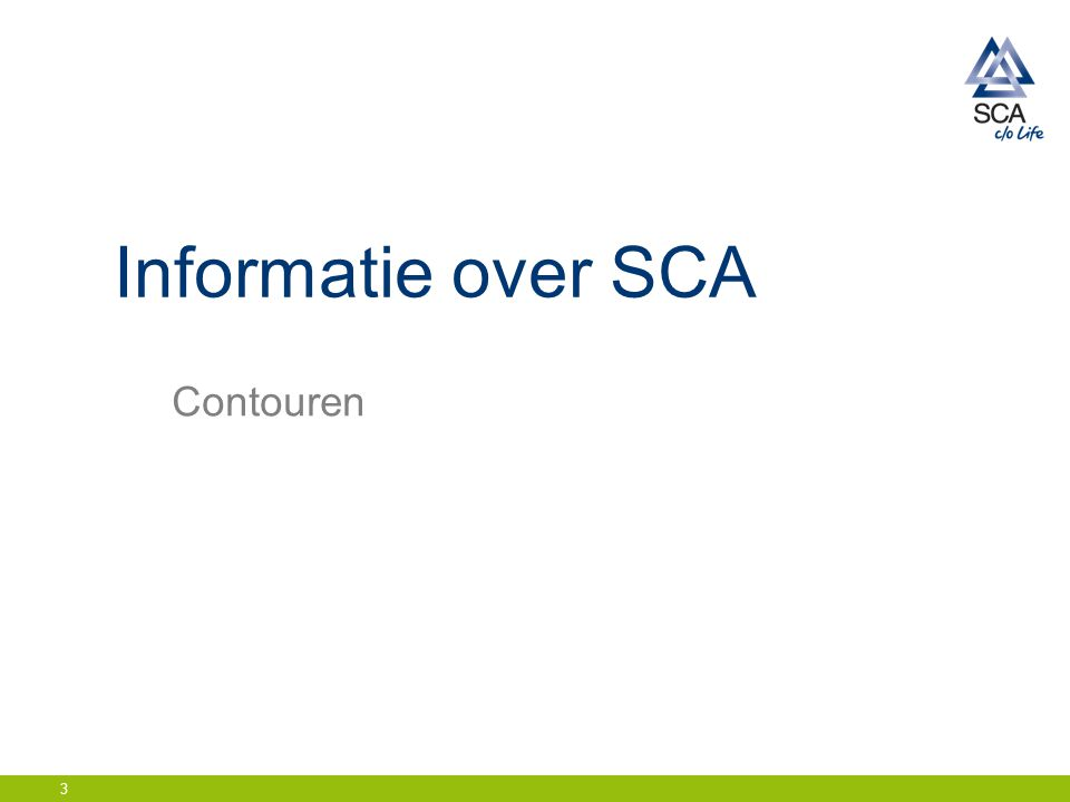 Daling voorraad hoogte gereed product Name of presentation / Date / Initials SCA Incontinence Care Europe14
