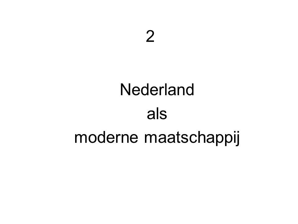 2 Nederland als moderne maatschappij