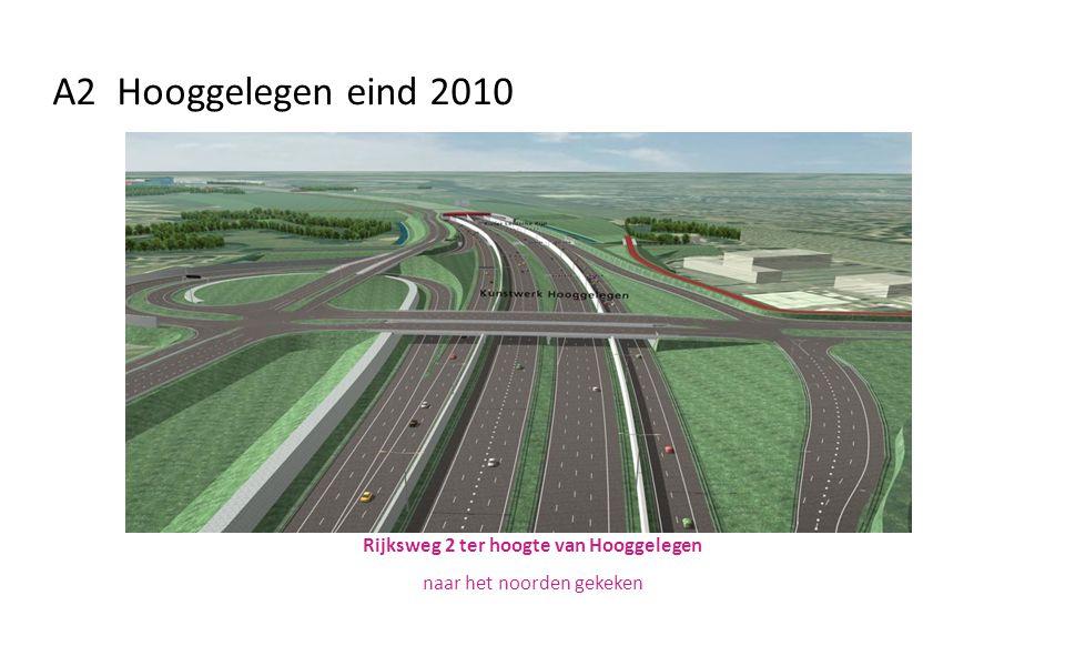 Rijksweg 2 ter hoogte van Hooggelegen naar het noorden gekeken A2 Hooggelegen eind 2010