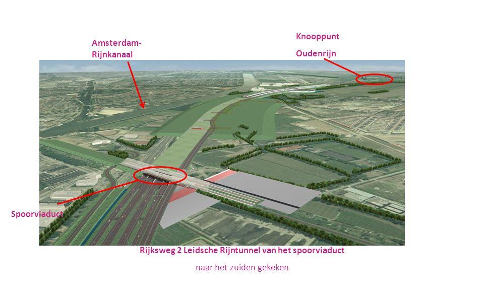 Rijksweg 2 Leidsche Rijntunnel van het spoorviaduct naar het zuiden gekeken Knooppunt Oudenrijn Spoorviaduct Amsterdam- Rijnkanaal