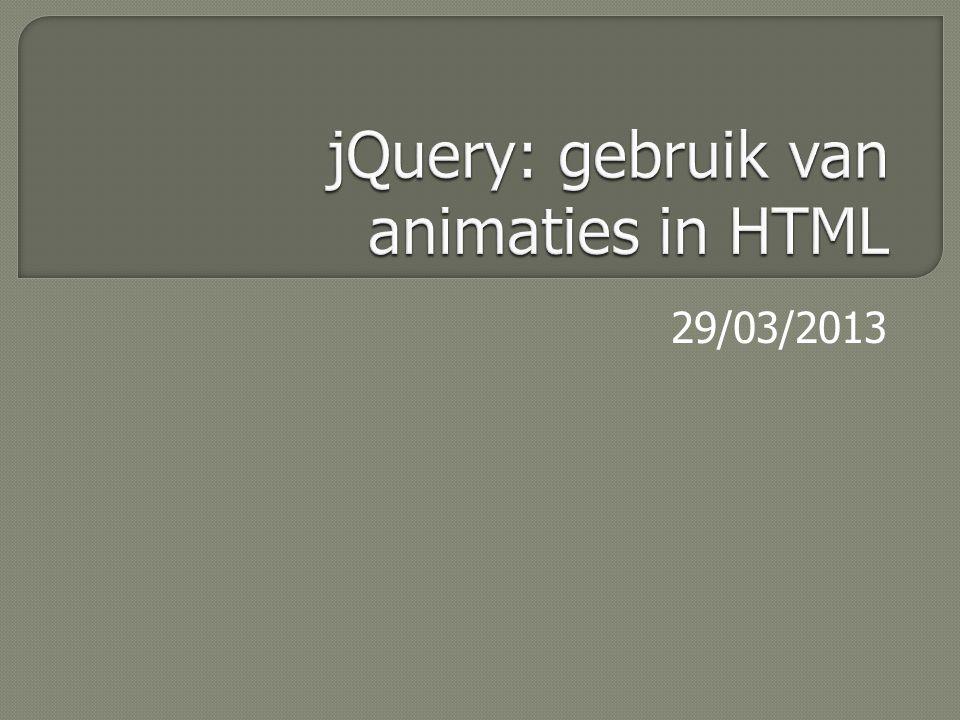 jQuery is  een JavaScript-bibliotheek die je kan integreren in je HTML-pagina.